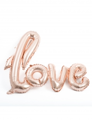 Ballon aluminium Love rose gold métallique 1 m x 67,6 cm