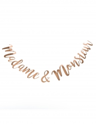 Guirlande Madame et Monsieur rose gold 1,55 m