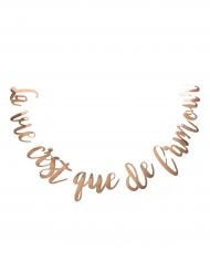Guirlande La vie c'est que de l'amour rose gold 1,60 m
