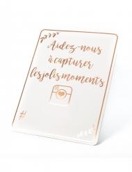 Panneau en carton rose gold 43 x 56 cm