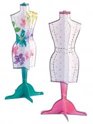 2 Centres de table en papier Mannequin
