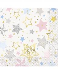 16 Serviettes en papier Twinkle Twinkle Little Star 33 x 33 cm
