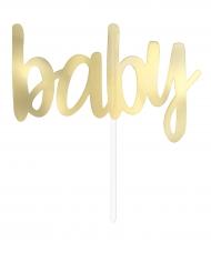 Décoration pour gâteau Baby doré métallisé