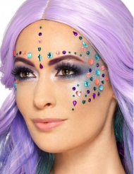 100 strass pour visages multicolores girly