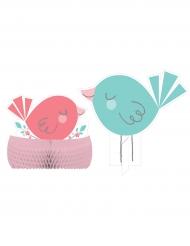 Centre de table en carton Hello Baby rose et bleu 25 et 30 cm