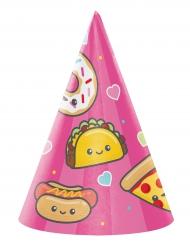 8 Chapeaux de fêtes Junk Food roses