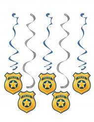 5 Suspensions Police bleu et argent 76,2 et 99,1 cm