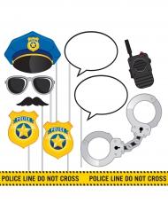Kit Photobooth Police 10 accessoires
