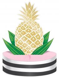 Centre de table Ananas doré 23 x 30,5 cm
