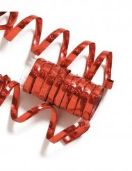 Rouleau de 10 serpentins rouges métallique 1,9 m