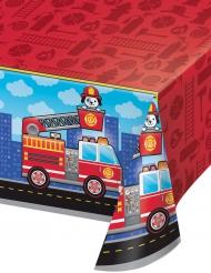 Nappe en plastique Camion de Pompier 137 x 259 cm