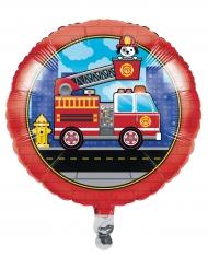 Ballon aluminium Camion de Pompier 45 cm