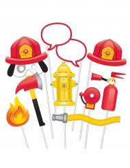 Kit Photobooth Pompier 10 accessoires