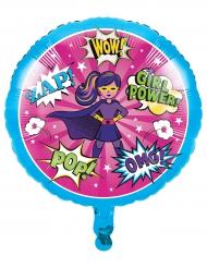 Ballon aluminium Super-héros fille 45 cm