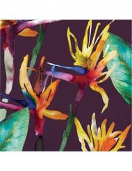 16 Serviettes en papier Fleurs Tropicales 33 x 33 cm