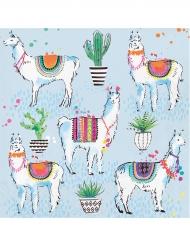16 Serviettes en papier Lama Fiesta 33 x 33 cm
