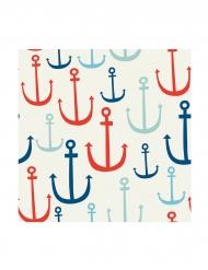 24 Petites serviettes en papier Ancres 25 x 25 cm