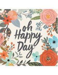 24 Petites serviettes en papier Oh Happy Day 25 x 25 cm