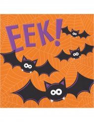 16 Serviettes en papier Halloween Fun orange 33 x 33 cm