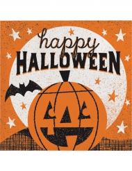 16 Serviettes en papier Happy Halloween 33 x 33 cm