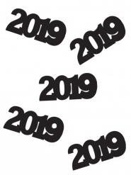 Confettis de table 2019 noirs 14 grammes
