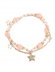Bracelet Etoile rose fille