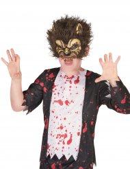 Masque en latex loup garou enfant