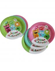 6 Assiettes en carton Happy Monsters 23 cm