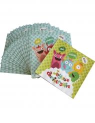 20 Serviettes en papier Happy Monsters 33 x 33 cm