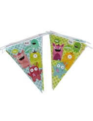 Guirlande en plastique Fanions Happy Monsters 270 cm