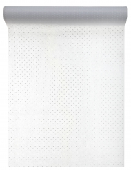 Chemin de table en tissu plumetis blanc 30 cm x 5 m