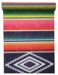 Chemin de table en tissu Mexique multicolore 5 m