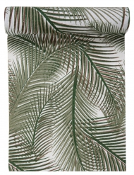 Chemin de table en coton Jungle vert 28 cm x 3 m