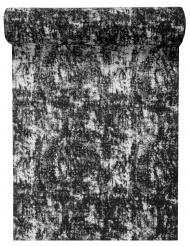 Chemin de table en coton Géo noir et blanc 5 m