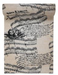 Chemin de table en coton Musique romantique 28 cm x 3 m