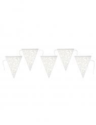 Guirlande fanions en carton Estivale blanche 17 x 24,5 cm x 3 m