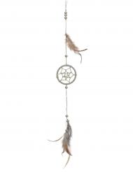 Suspension attrape rêve avec plumes 35 cm