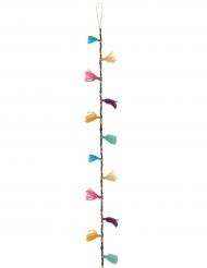 Guirlande Pompons et Perles multicolore 120 cm