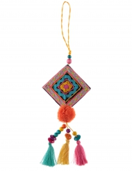 Suspension Mexicaine losange multicolore 31 cm