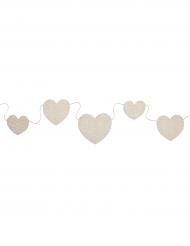 Guirlande cœurs naturels en coton 1,50 m