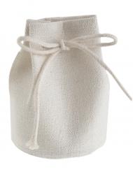 4 Sachets en coton blanc 7 cm