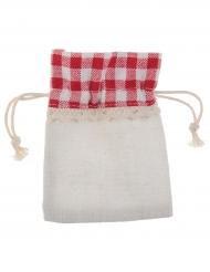 4 Sachets en coton vichy 10 cm