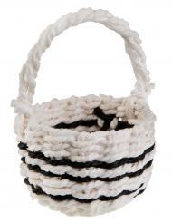 Petit panier Ethnique blanc et noir 9 cm