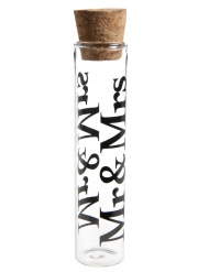 Éprouvette en verre Mr & Mrs 10 cm