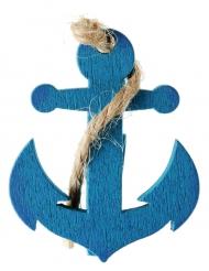 4 Ancres de bateau bleues sur pince 3,5 cm