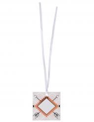 6 Marque-places en carton Ethnique 5 cm