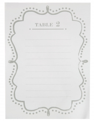 10 Plans de table en carton blanc 15 x 21 cm