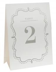 10 Marque-tables en carton blanc 15 x 21 cm
