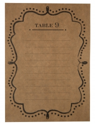 10 Plans de table en kraft 15 x 21 cm