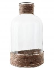 Vase en verre avec corde 15,5 cm